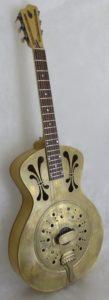guitare a résonateur simple cône bois laiton