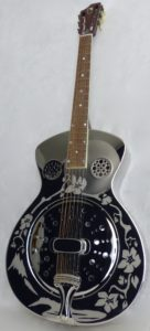 resonator guitar brass body,guitare a résonateur simple cône corps laiton